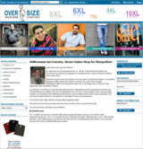Over-Size Onlineshop