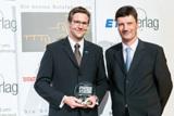 Christof Thesinga (TimoCom) u. Werner Faas (Moderation) ; Beste Marken 2012