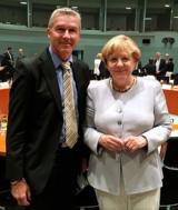 GFN Vorstand Axel Stadtelmeyer mit Bundeskanzlerin Angela Merkel