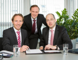 v.l.n.r. Thomas Dieringer, Michael Rösch, Uwe Krawinkel, Vorstands-Team der POOL4TOOL AG