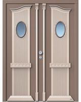 In Holz-Eingangstüren ist der Einbruchschutz schon integrier