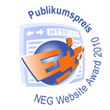 Logo Publikumspreis beim NEG Website Award 2010