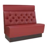 Tora Sitzbank, Rückenlehne mit Knopfheftungen