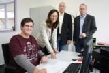Mit Fabio Rus (l.) freuen sich Claudia Pohl (Geschäftsführerin), Andreas Pohl und Ralf Schulte.