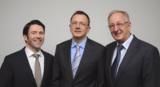 Jovan Ivanovski, Vertriebsleiter, Martin und Claus Krogmann, Geschäftsführer der MicroData GmbH
