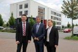 W. Beutel, Entwicklung, Geschäftsführer S. Fasihi und R. Lutzer, Projektmanagement. Foto: Fasihi.