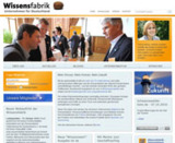 Screenshot des neuen Webauftritts der Wissensfabrik Deutschland.