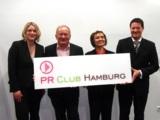(v.l.n.r.) - Simone Hopf (PR Club Hamburg), Uwe Jens Neumann