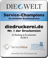 Branchengewinner im Kundenurteil: diedruckerei.de