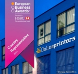 Onlineprinters GmbH für Deutschland nominiert (c) European Business Awards