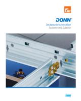 Der neue DONN®-Katalog präsentiert zahlreiche Systeme und Zubehör für Deckenunterkonstruktionen.