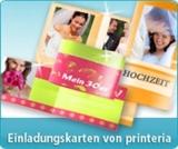 Persönliche Einladungskarten selbst gestalten auf www.printeria.de