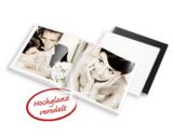 Neu: premium Hochzeits- Fotobuch von printeria.de mit weißem Leder-Einband