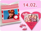 Herzige Fotogeschenk-Idee zum Valentinstag