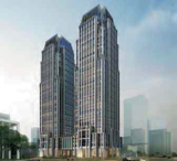 Die zwei Bürotürme der in Foshan geplanten »Sino- German Industrial Service Platform«