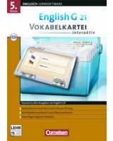 English G 21 Vokabelkartei interaktiv 5. Klasse