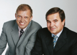 Seit 30 Jahren ein Team: die HS Geschäftsführer Dr. Thomas M. Schünemann (l.) und Walter Ullmer.