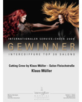 Urkunde Top 30 Intercoiffure an Klaus Müller