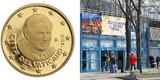 Begehrte 50-Cent-Papstporträt-Münze gegen 'normales' Wechselgeld auf der Stuttgarter Münzenmesse