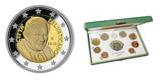 """Vatikan-Kursmünzensatz 2010 zum Jubiläum """"5 Jahre deutscher Papst"""""""