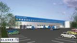 So soll das von TST und Deutsche Papier geplante Logistikzentrum in Biebesheim aussehen