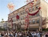 Eröffnungsfeier vor der neuen Scientology Kirche in Pasadena