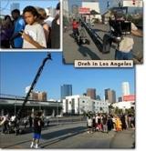 Bei den Dreharbeiten in Los Angeles