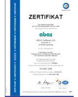ABAS Software AG nach ISO-9001:2008 zertifiziert