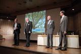 Eröffnungsvortrag:vlnr Werner Strub(CEO),Peter Forscht (COO),Wolfgang Dannemann,Peter Walser(CTO)