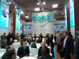Gut besucht: CeBIT-Messestand der ABAS Software AG