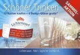 """""""Schöner Trinken"""" mit edlen Designer-Gläsern"""