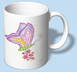 Tasse mit WolkenWerke Schmetterling