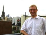 Stipendiat Martin Büscher auf der Dachterrasse der RFH