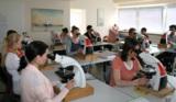 Im Unterricht an der Zytologieschule Bensberg