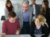 Im Unterricht an der Dolmetscherschule Köln