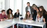 Schüler im Unterricht an der Dolmetscherschule in Köln