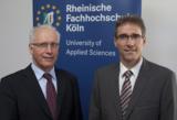 Prof. Prof. Dr. Günter Cox (l.) und Prof. Dr. Wilfried Saxler (r.)