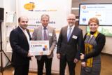 Dr. Ansari, Prof. Dr. Fathi , Andreas Lohff, Geschäftsführer cut-e, und Marjan Khobreh