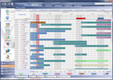 Belegungsplan in der Edition 2011 der HS/3 Hotelsoftware