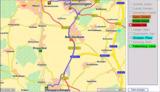 Elektronische Landkarte für effiziente Routenplanung.