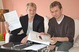 Alexander Sonnenfeld (r.) und sein Geschäftspartner Ronald K
