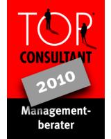"Gütesiegel ""TOP Consultant 2010""."