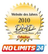 Erlebnisgeschenke-Portal NoLimits24.de als bester Onlineshop 2010 ausgezeichnet