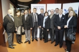 Eine türkische Delegation des Textilverbandes ITKIB und des Unternehmerverbandes ATIAD im IMOTEX
