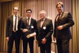 Preisverleihung 2016 (v.l.n.r.) Dr. C. Hoffart, S. Thelen, Prof. W. Eversheim, Pr. V. Stich
