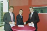 Prof. Dr.-Ing. Volker Stich, Dr. Harri Kulmala, Prof. Dr.-Ing. Christian Brecher (v. li. n. re.)
