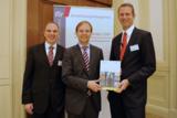 Dr. Gudergan, Staatssekretär Rachel (MdB), Professor Dr. Schuh, Foto: David Wilms