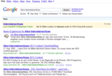 """Die Suchergebnisse der Suchworte """"Alice Internetanschluss"""" am 26.08.09"""