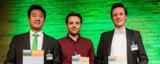Die drei Gewinner des »Call for Ideas« (Foto: Ulf Büschleb, © Fraunhofer)
