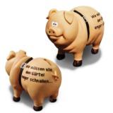 Das Sparschwein zur Wirtschaftskrise